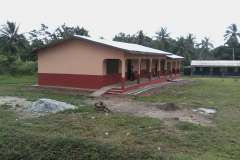 3 unit classroom block just completed and handed over at Egyirikrom